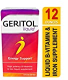 Geritol Liquid Energy Support, High Potency B-Vitamin & Iron Liquid Supplement, 12-Ounce (354 ml) (Pack of 3)