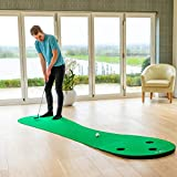 FORB Home Golf Putting Mats [2 Sizes] | Deluxe Indoor Putting Practice (3 Holes) | Golf Training Aid | Putting Green Golf Trainer | Golf Putting Greens for...