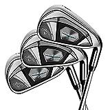 Callaway Golf 2018 Men's Rogue X Iron Set, Left Hand, Regular, 4-9 Iron, PW, KBS Max Steel, 90G