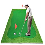 Luricaa Golf Putting Green Mat for Indoor Outdoor, Professional Golf Training Mat Aids for Professional Golf Practice