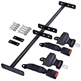 AW 2 Universal Retractable Golf Cart 42Inch Seat Belts+ 35x6.9Inch Bracket Kit Compatible with EZGO Yamaha Club Car