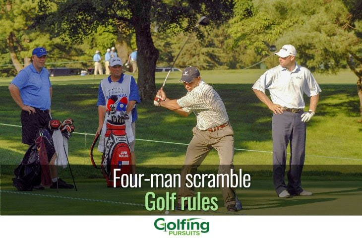 Four-man scramble golf rules