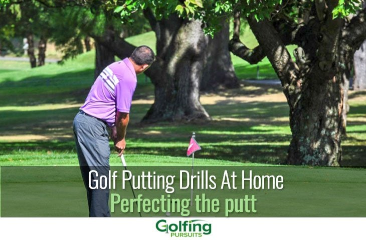 Golf putting drills at home